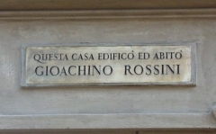 Rossini Gioacchino, casa