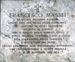 Epigrafe di Francesco Massei